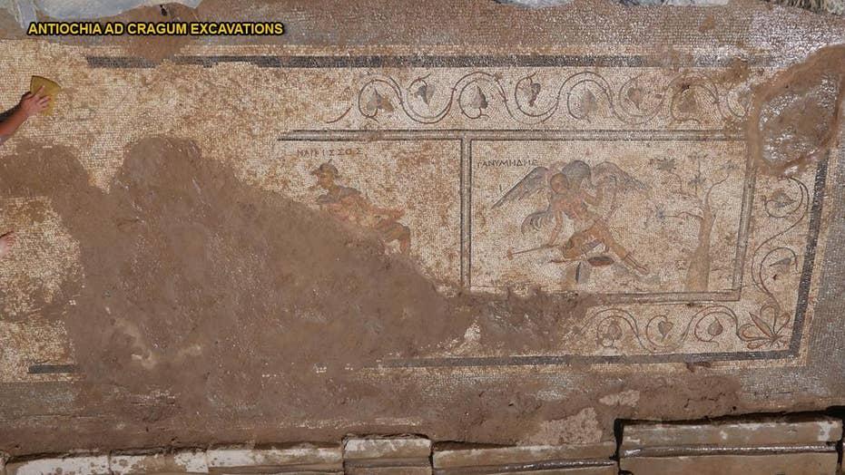 Ancient Roman unwashed jokes detected in latrine mosaics