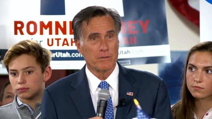 Mitt Romney thanks supporters after winning Utah Senate race
