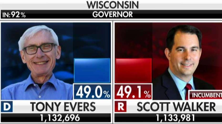 Race for Wisconsin governor too close to call