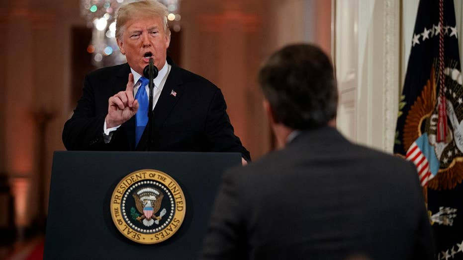CNN's Acosta reverses roles, tries to argue with Trump