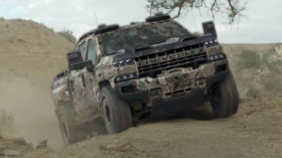 Stealthy hydrogen-powered Chevrolet Silverado military truck