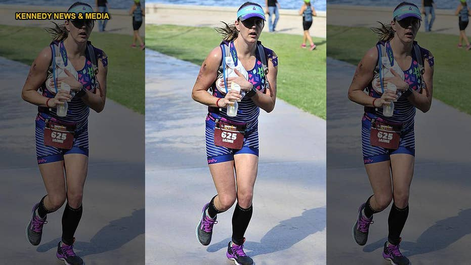 Airman mom pumps breast milk while completing Ironman 70.3