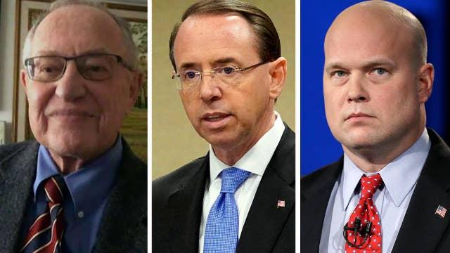 Dershowitz: Rosenstein more subject to recusal than Whitaker