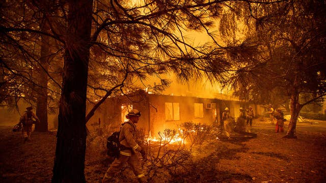 California blazes in the north and south force evacuations