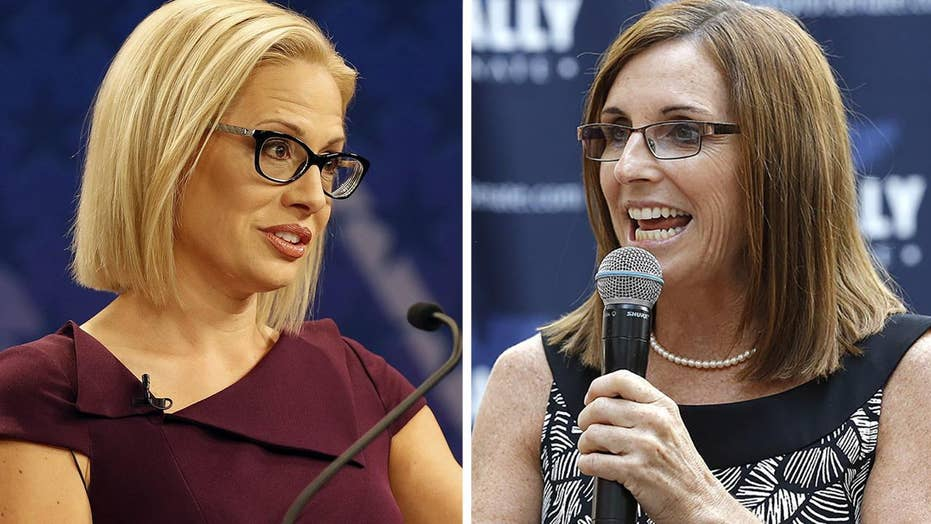 Sinema takes lead over McSally in Arizona Senate race