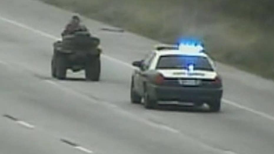 Texas teen on ATV leads police on pursuit