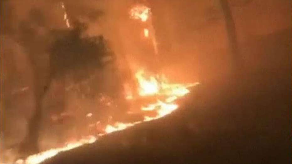 Bodycam video captures inferno in Paradise, California