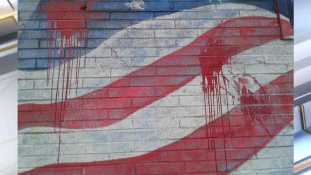 Antifa targets American flag mural in NY town