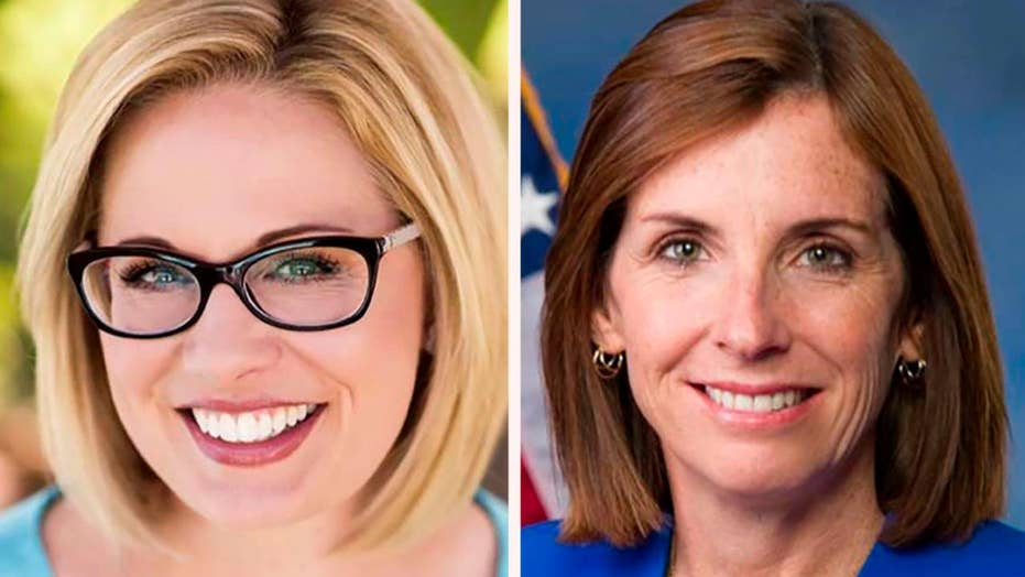 Sinema widens lead over McSally in Arizona senate race