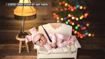 Photographer, mom defend 'A Christmas Story' newborn shoot