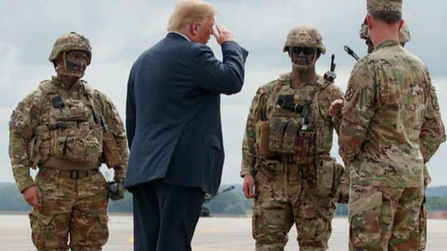 How is Trump's pro-military message being received by vets?