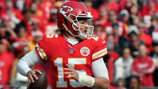 Kansas City Chiefs quarterback Patrick Mahomes skips postgame activities