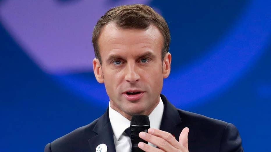Macron takes a dig at Trump's 'nationalism'