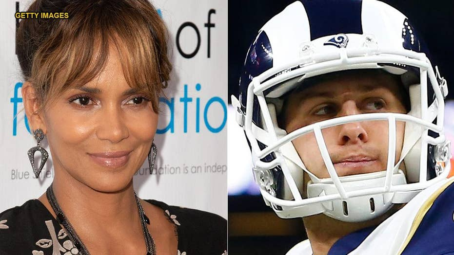 Halle Berry responds to Rams' QB calling out her name before snap