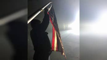 American flag discovered in Camp Fire ruins in California