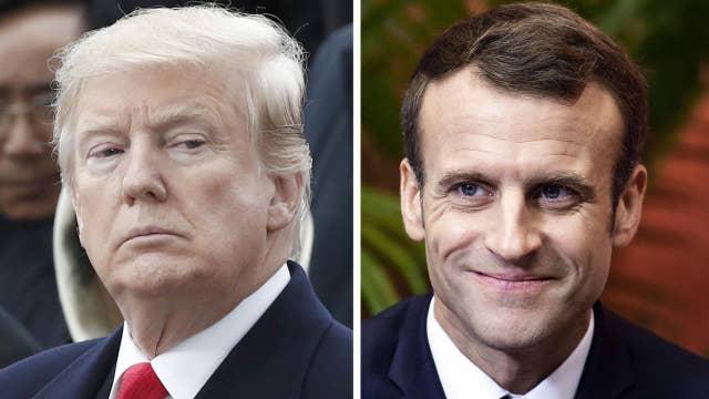 Trump tweetstorm blasts Macron over nationalism rebuke