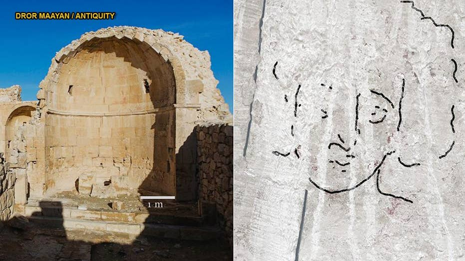'Jesus' face' uncovered at ancient church in the Israeli desert