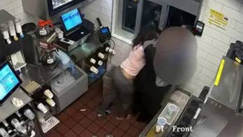Caught on camera: McDonald's melee