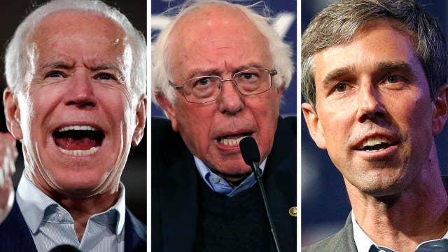 Biden, Bernie and O'Rourke lead 2020 Dem field