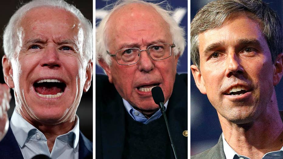 Biden, Bernie and O'Rourke lead 2020 Dem field