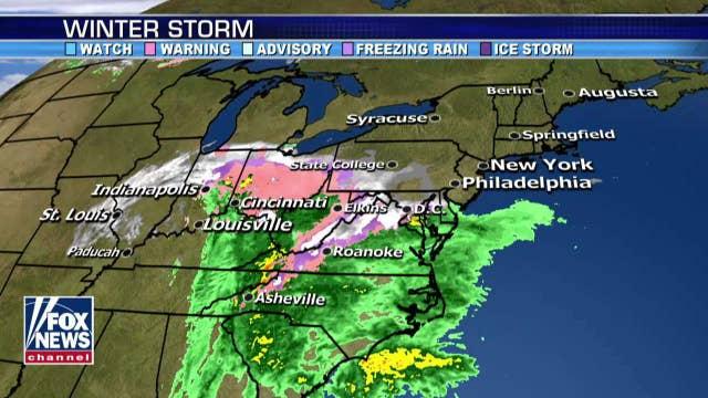 National forecast for Thursday, November 15