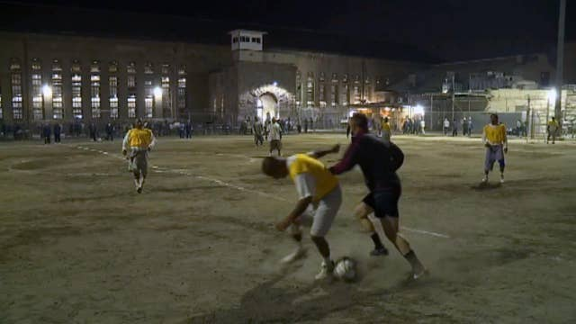 Sacramento Republic FC staff play Folsom prison inmates