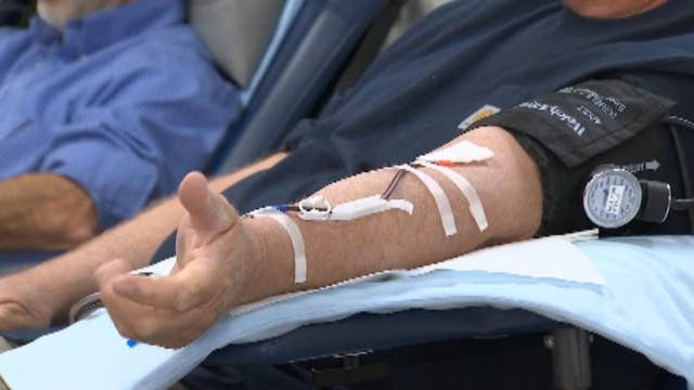 5 men donate over 2,000 pints of blood