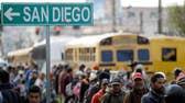 San Diego Border Patrol monitoring migrant caravan
