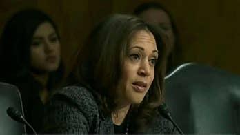 Sen. Harris draws comparison between ICE and KKK