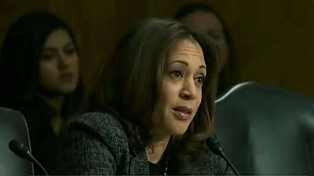 Sen. Harris draws comparison between ICE and KKK