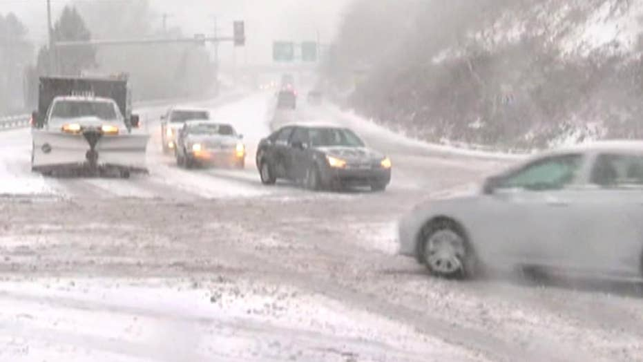 Early season snowstorm causes commuter chaos on East Coast