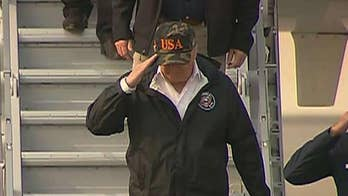 President Trump arrives in California to survey wildfire damage after hammering 'poor' forest management