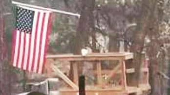 Veteran's American flag survives Camp Fire