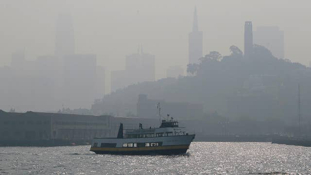 Wildfire causes bad air quality in Northern California