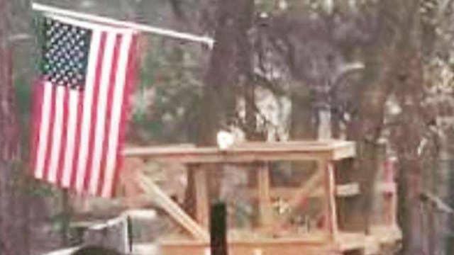 Veteran's American flag survives Camp Fire