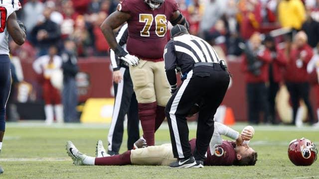 Redskins quarterback suffers gruesome injury