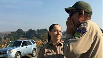Colorblind California deputy sees 'different world' after receiving special glasses from fellow officer