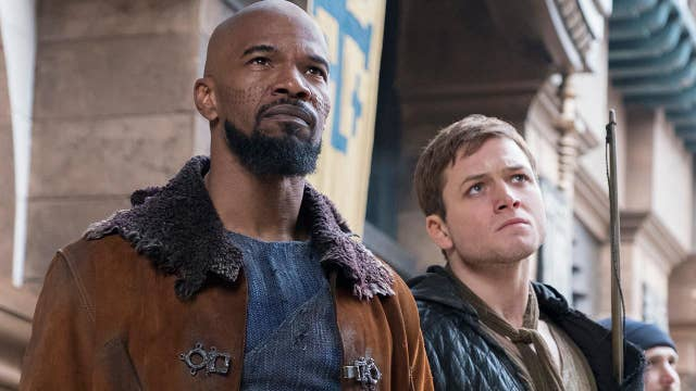 Taron Egerton and Jamie Foxx talk 'Robin Hood' remake