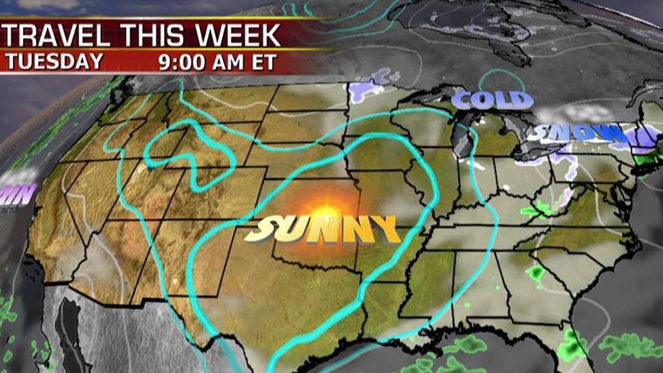 National forecast for Tuesday, November 11