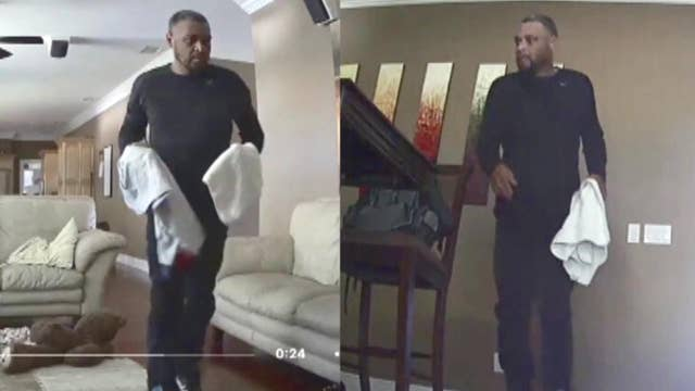 Boy spots burglar from home surveillance video