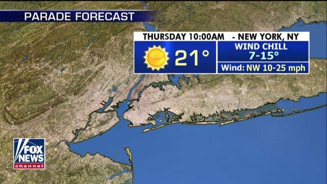 National forecast for Wednesday, November 11