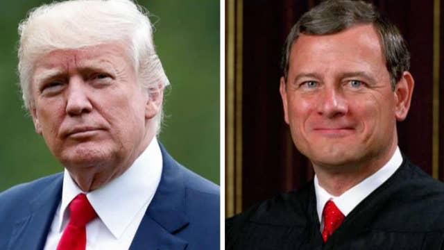 John Roberts and President Trump trade jabs on judicial bias