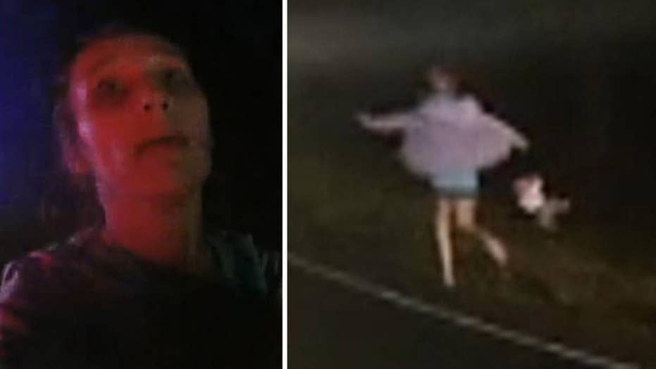 Woman drops baby on head while running from police