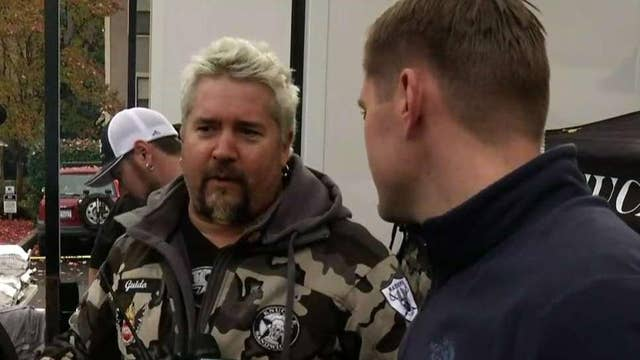Guy Fieri helps bring comfort to Camp Fire survivors