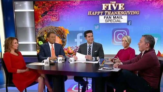 Thanksgiving fan mail extravaganza on 'The Five'