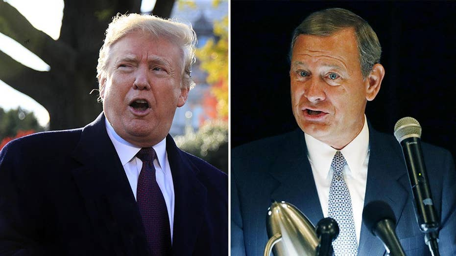 Trump continues feud with Chief Justice Roberts