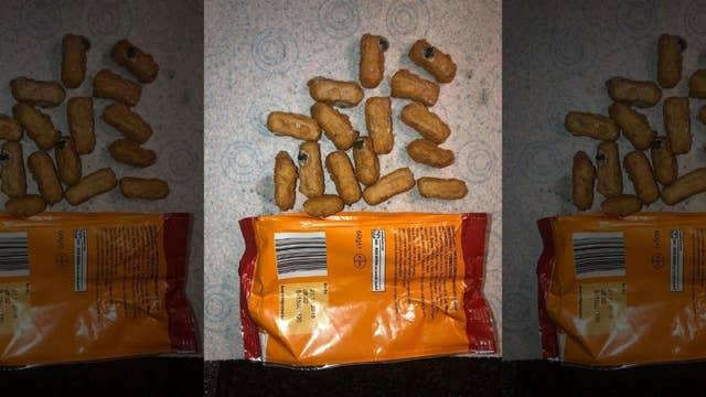 Dad allegedly finds maggots in son's chicken nuggets
