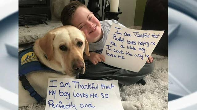 Giving thanks for Canine Companions service dogs