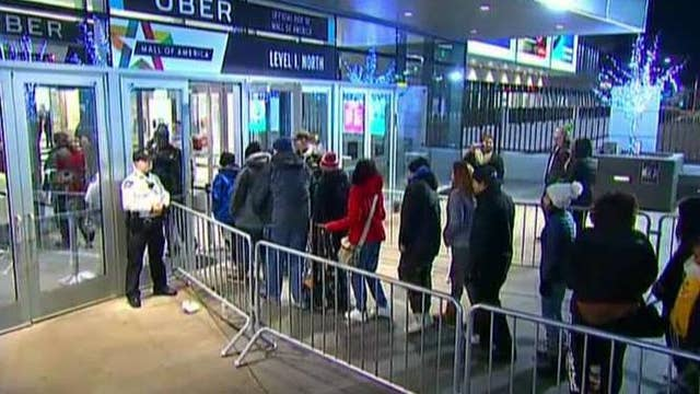 Shoppers turn to professional 'line sitters'