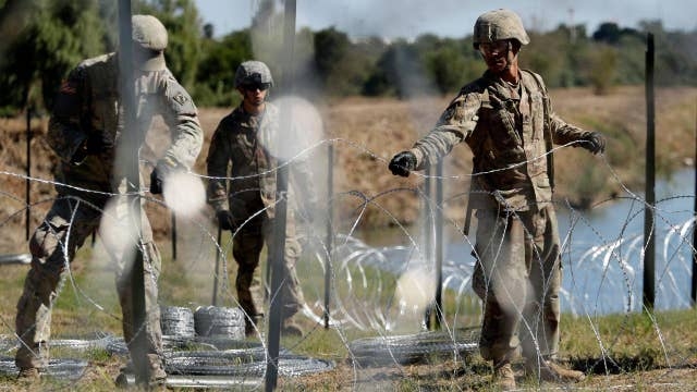 Should Trump visit US troops deployed to the border